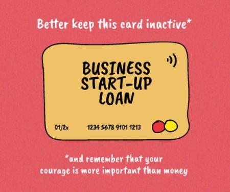 Start-up Loan concept with Credit Card Large Rectangle – шаблон для дизайну