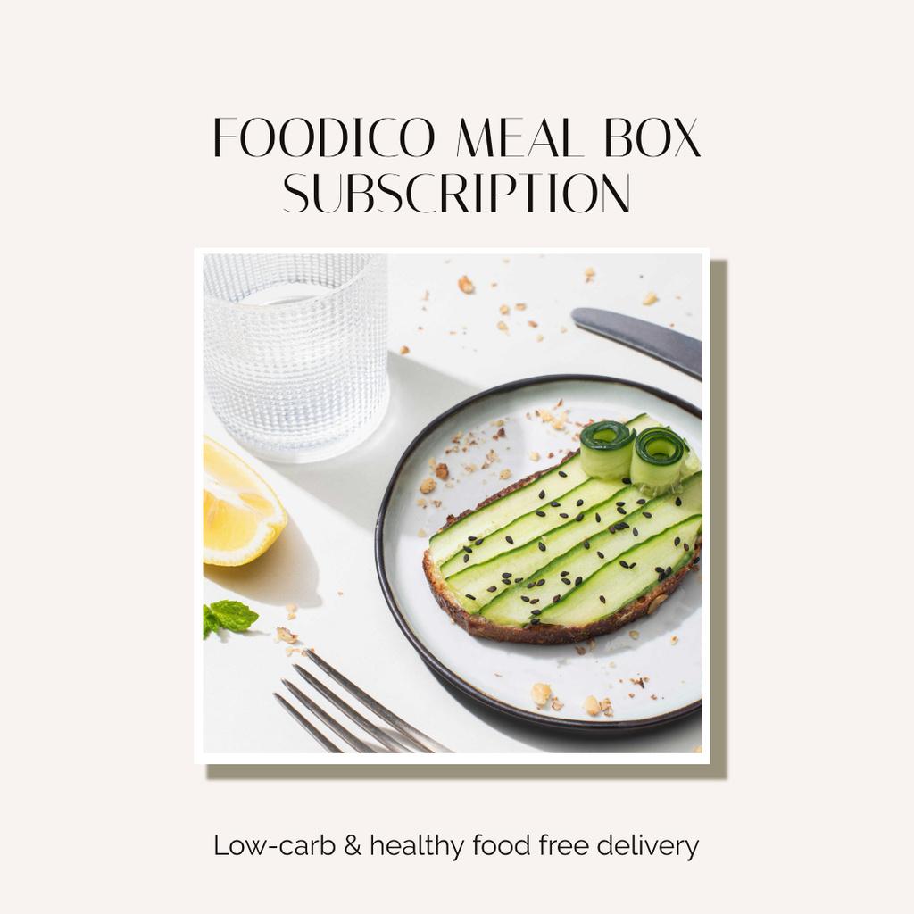 Food Delivery Offer with Healthy Breakfast — Maak een ontwerp