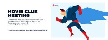 Movie Club Meeting with Man in Superhero Costume