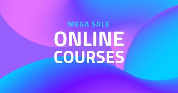 Online Courses Offer on Purple Gradient