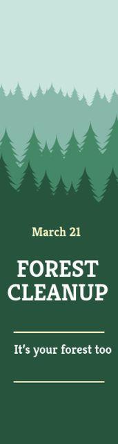 Forest cleanup day Skyscraper – шаблон для дизайна