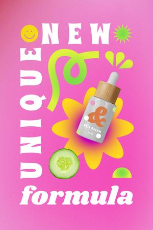 Plantilla de diseño de Skincare Offer with Cosmetic Oil Bottle Pinterest