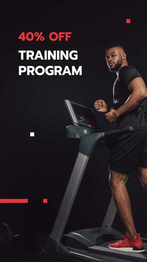 Sport Training Program Discount Offer Instagram Story – шаблон для дизайну