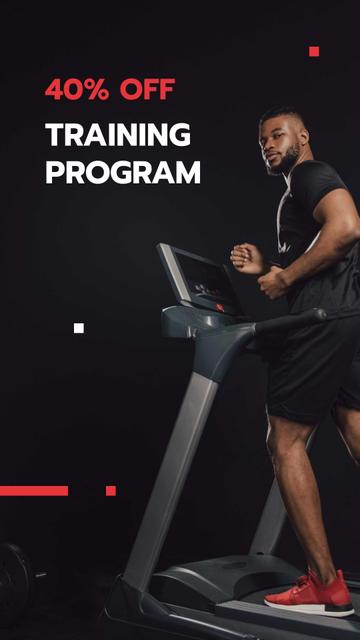 Sport Training Program Discount Offer Instagram Story Modelo de Design