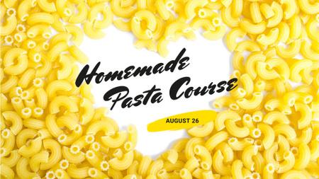 Designvorlage Homemade Italian Pasta Courses für FB event cover