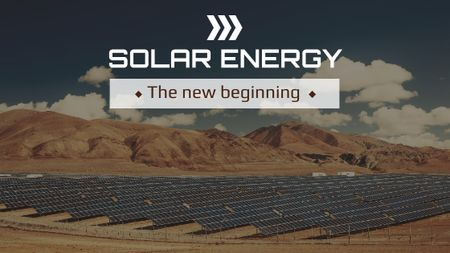 Green Energy Solar Panels in Desert Title – шаблон для дизайна