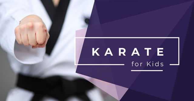 Karate club for kids Facebook ADデザインテンプレート