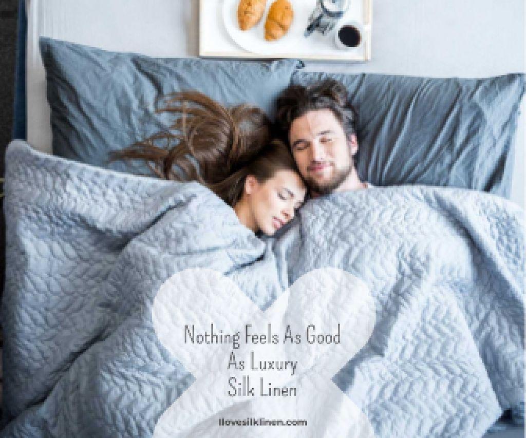 Luxury silk linen website Large Rectangle – шаблон для дизайна