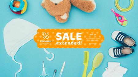 Ontwerpsjabloon van Youtube van Baby Store Sale Products and Toys
