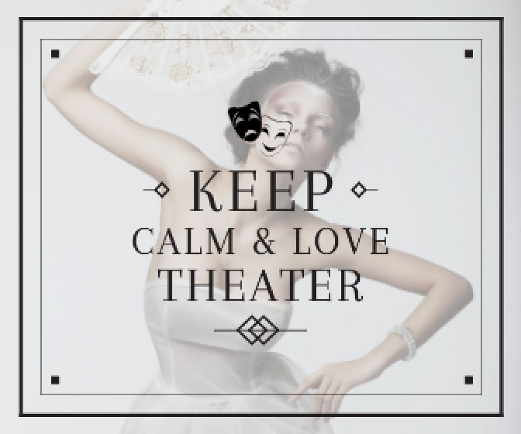 Citation about love to theater Large Rectangle – шаблон для дизайна