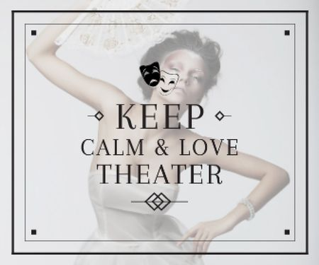 Plantilla de diseño de Citation about love to theater Large Rectangle