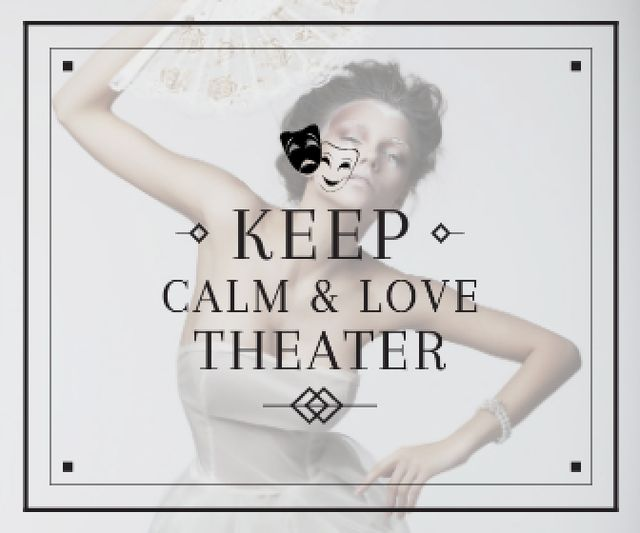 Template di design Citation about love to theater Large Rectangle