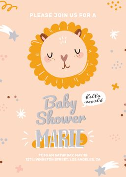 Baby Shower party with cute animal