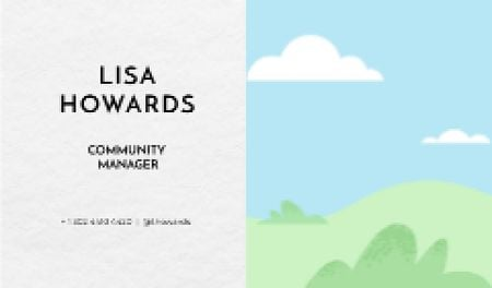 Plantilla de diseño de Community Manager professional profile Business card