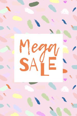 Sale announcement on colorful pattern Pinterest Modelo de Design