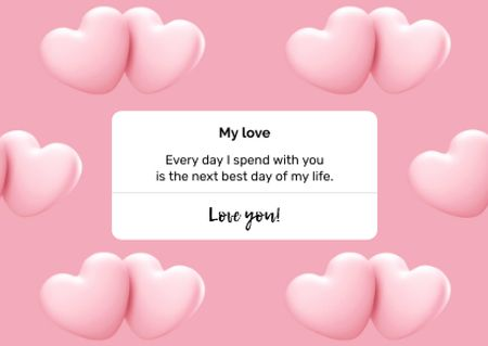 Valentine's Day greeting with Hearts Postcard – шаблон для дизайну