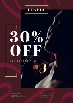 Perfumes Sale with Woman Applying Perfume