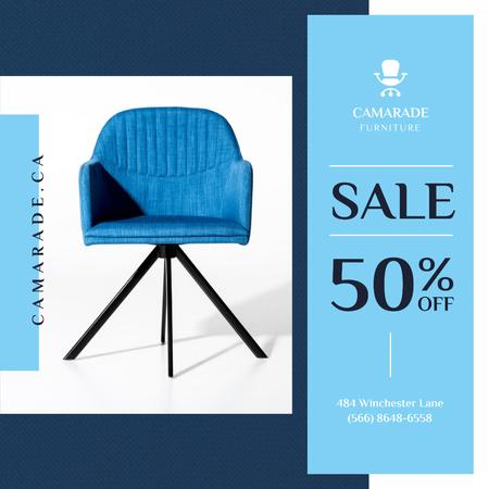 Ontwerpsjabloon van Instagram van Cozy Blue Armchair Offer