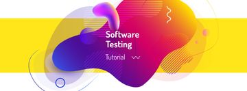 Software testing with Colorful lines and blots