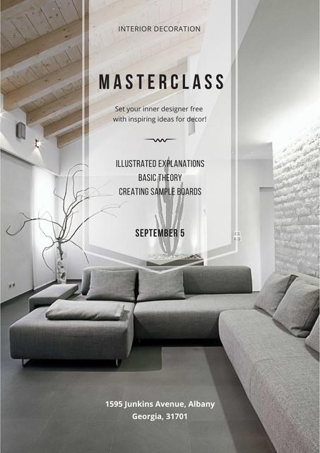 Masterclass of Interior decoration Poster Tasarım Şablonu