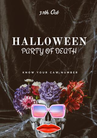Plantilla de diseño de Halloween Party Announcement with Funny Character Poster