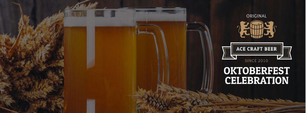 Traditional Oktoberfest beer — Crear un diseño