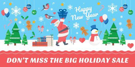 Modèle de visuel Merry Christmas sale card - Image
