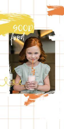 Smiling Woman with Orange Juice Graphic – шаблон для дизайна
