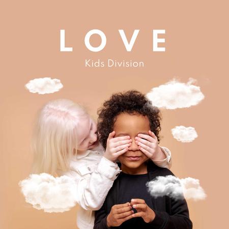 Plantilla de diseño de Cute little Multiracial Kids Album Cover