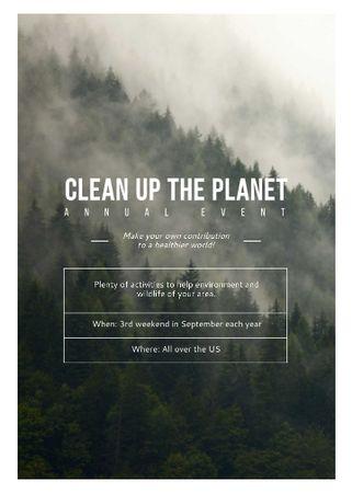 Designvorlage Ecological Event Foggy Forest View für Flayer