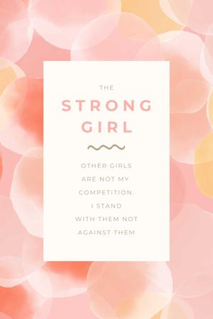 Girl Power Inspiration with Pink Bubbles Pinterest Modelo de Design