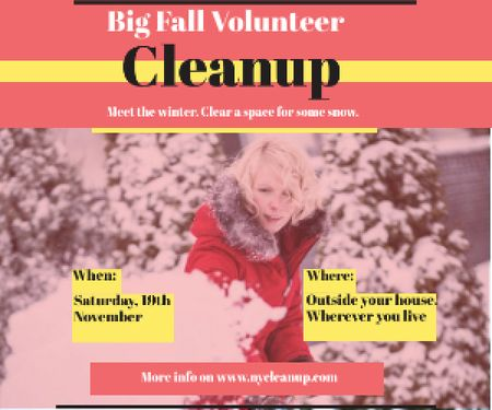 Winter Volunteer clean up Medium Rectangle – шаблон для дизайну