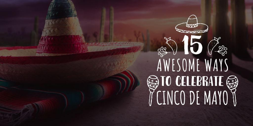 Cinco de Mayo holiday — Maak een ontwerp