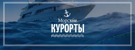 Seaside Resorts Promotion Ship in Sea Facebook cover – шаблон для дизайна