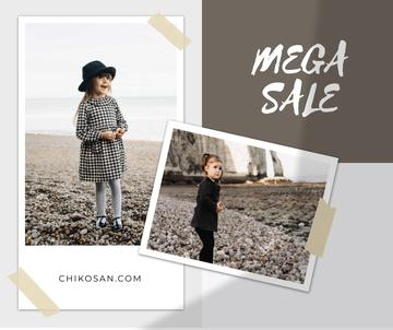 Children's Clothes Sale Ad with Cute Kids