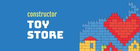 Construction Toys Store Offer Facebook cover Modelo de Design
