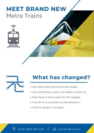 New metro trains announcement Poster Modelo de Design