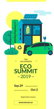 Eco Summit concept with Sustainable Technologies Graphicデザインテンプレート