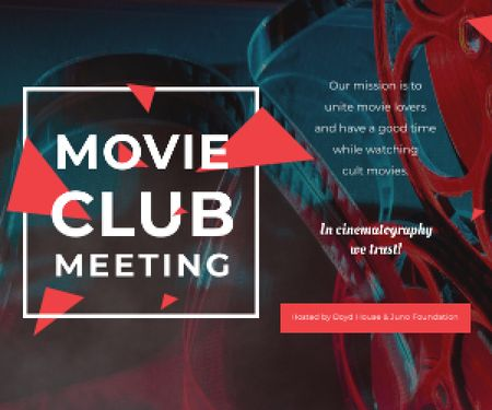 Movie club meeting Medium Rectangle Design Template
