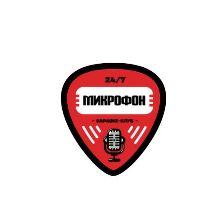 Karaoke Club Promotion with Microphone Icon Logo – шаблон для дизайна