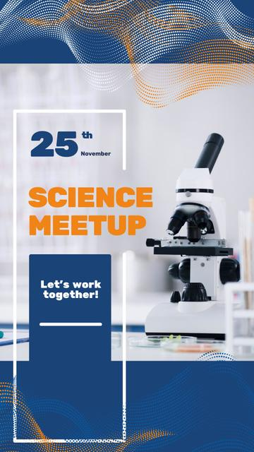 Science Meetup Announcement with Microscope Instagram Story – шаблон для дизайна