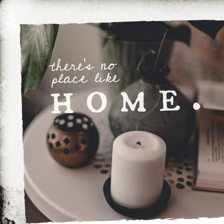 Home Decor Store Ad with Candle Instagram Modelo de Design