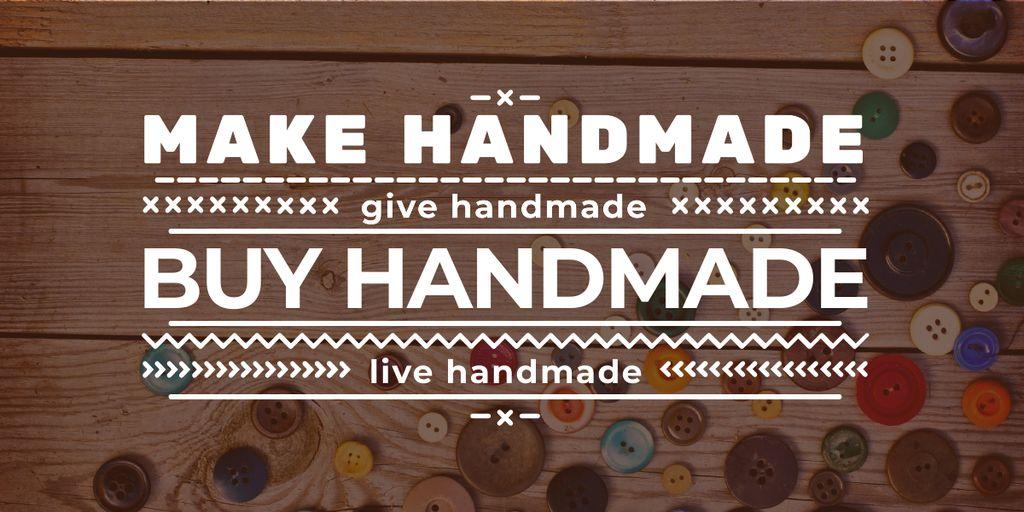 handmade workshop banner with buttons — ein Design erstellen