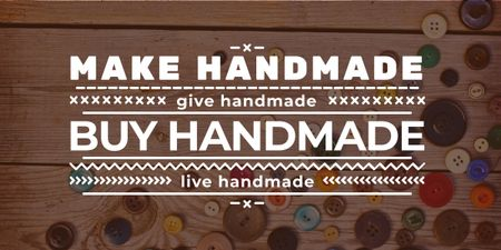 Plantilla de diseño de handmade workshop banner with buttons Image