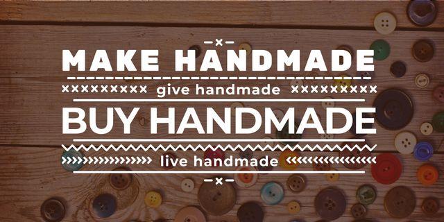 handmade workshop banner with buttons Image Tasarım Şablonu