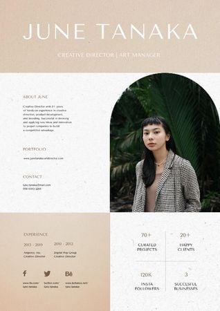 Creative Director skills and experience Resumeデザインテンプレート