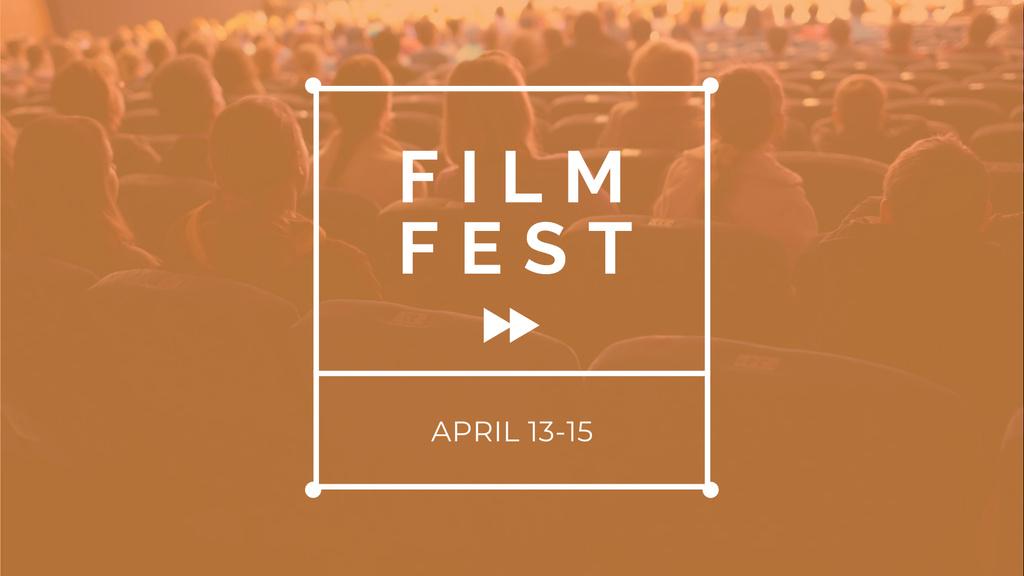 Designvorlage Film Festival Announcement with People in Cinema für FB event cover