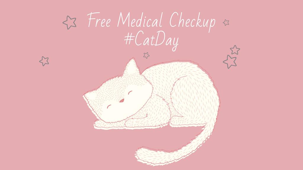 Grooming Service Ad with Cute Sleepy Cat — Crear un diseño