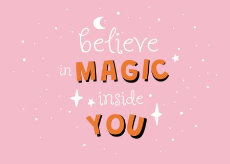 magic inside you Card – шаблон для дизайну