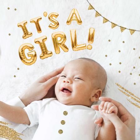 Modèle de visuel Cute little Newborn Girl - Instagram